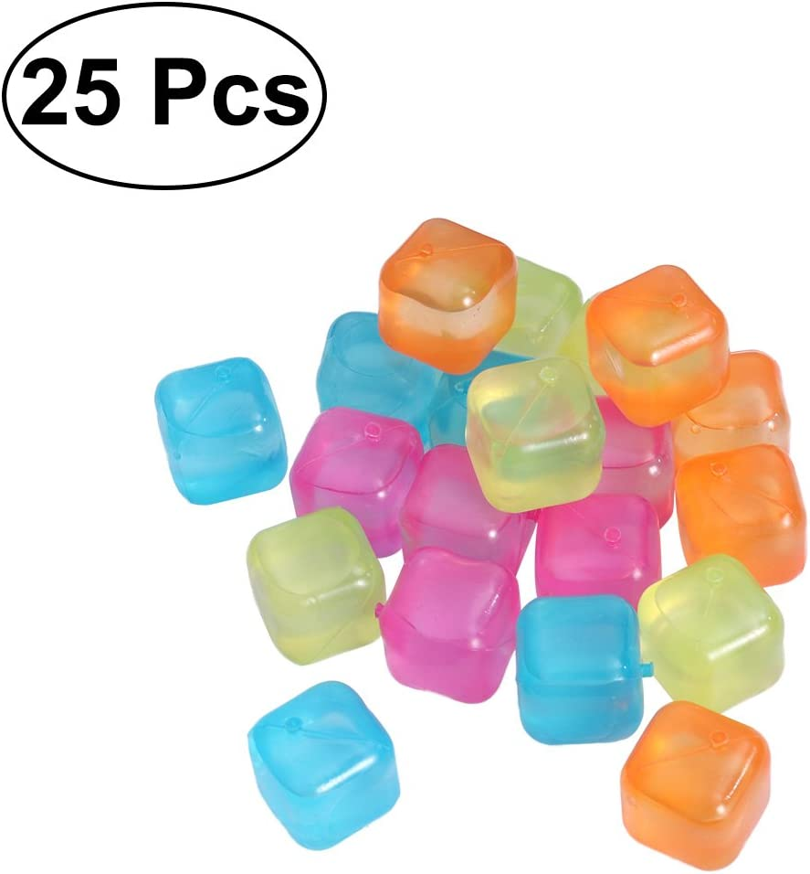 Bestonzon 20/pcs//lot Plastique Gla/çons r/éutilisables color/és de f/ête /à boisson couleur al/éatoire