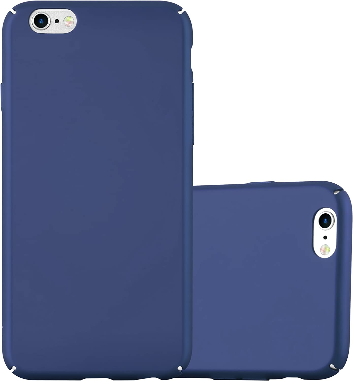 Cadorabo Case Compatible with Apple iPhone 6 Plus/iPhone 6S Plus in Metal Blue - Shockproof and Scratch Resistent Plastic Hard Cover - Ultra Slim Protective Shell Bumper Back Skin