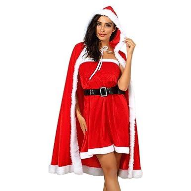 Sixcup_ - Disfraz Sexy de Papá Noel para Mujer con Capucha ...