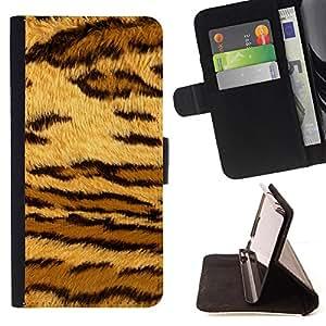 - Stripes Leopard Spots Tiger Furry - Estilo PU billetera de cuero del soporte del tir???¡¯????n [solapa de cierre] Cubierta- For Sony Xperia Z2 D6502 £¨ Devil Case £©