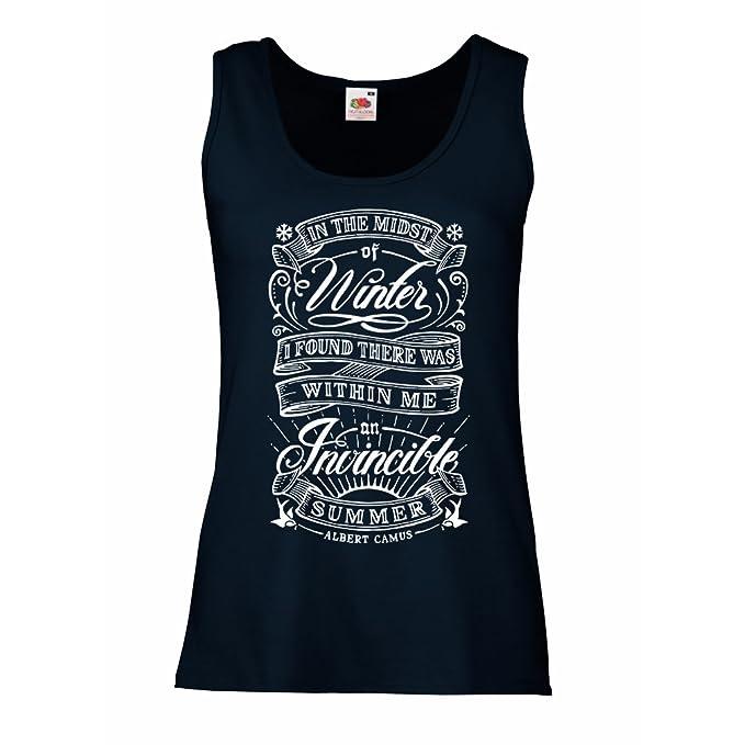 lepni.me Camisetas Sin Mangas para Mujer EN Medio del Invierno, encontré Que Había