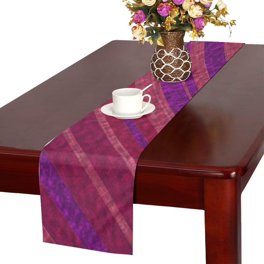 Jnseff Stripes Course Texture Pattern Color Table Runner, Kitchen Dining Table Runner 16 X 72 Inch For Dinner Parties, Events, Decor