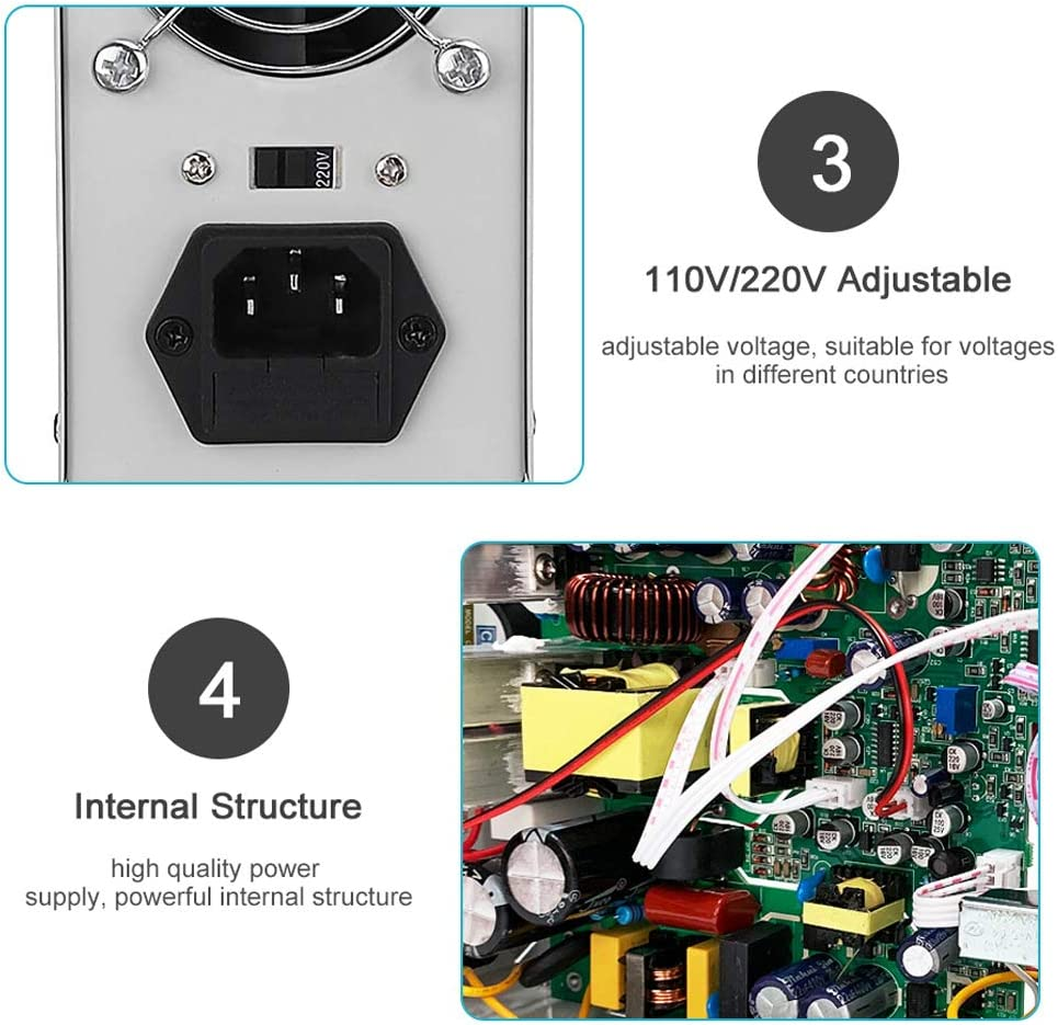 QWERTOUY 30V 10A DC Power Supply Adjustable 4 Digit Display Mini Laboratory Power Supply Voltage Regulator K3010D for Phone Repair