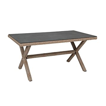 greemotion Table de jardin résine tressée Menorca 160x90 cm - Table ...