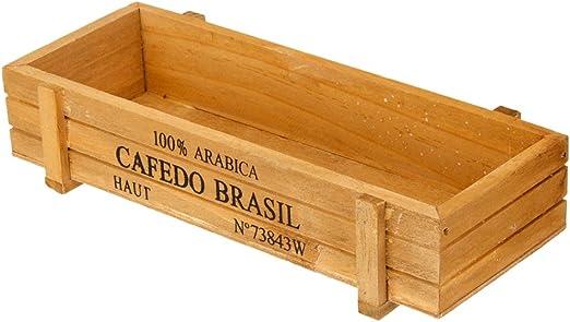 Caja de Madera Multifunción para Suculentas Cultivo, Maceta de Flores, Macetas para Cactus, Caja de Almacenamiento de Vino Tinto: Amazon.es: Hogar