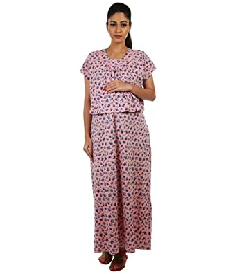 3dcad461ed1 Kriti Comforts Pink Night wear: Amazon.in: Clothing & Accessories