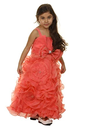 Dymastyle Brautjungfernkleid rosa Gürtel Mädchen festlich ...