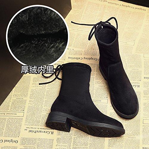 AGECC  Damen Damen Winter Martin Schuhe Stiefel A Winter Winter Plus Samt weiblich Xie Zichao Viel Glück für Sie