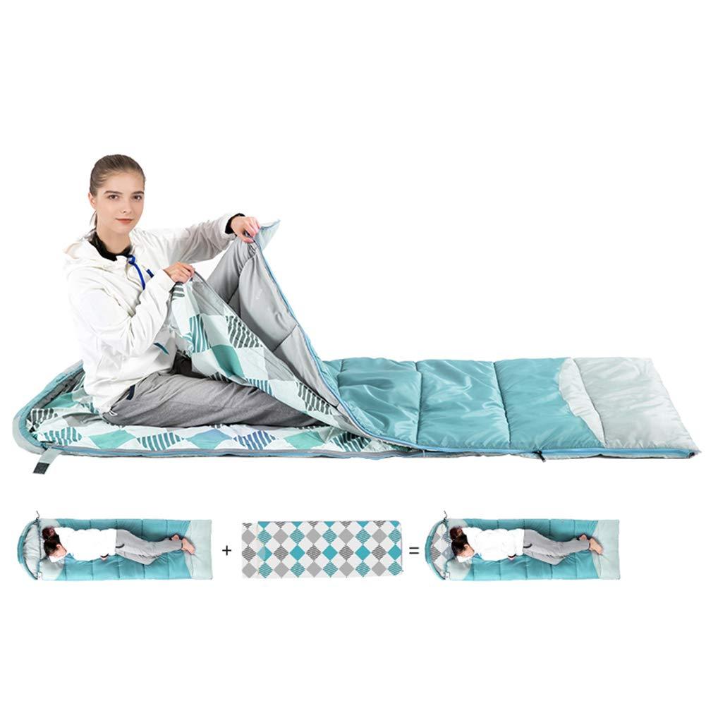 寝袋、軽量ポータブル睡眠バッグ防水通気性スリーピングパッド大人暖かい屋内睡眠袋用キャンプハイキングアウトドアアクティビティ,lightgreen B07NW7RRSS lightgreen
