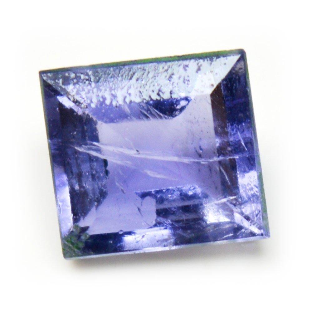Natural Iolite Loose Gemstone Faceted 2.5 Carat Square Shape Chakra Healing Birthstone Wholesale Price AAA+ 55Carat 55IOLISQU-4