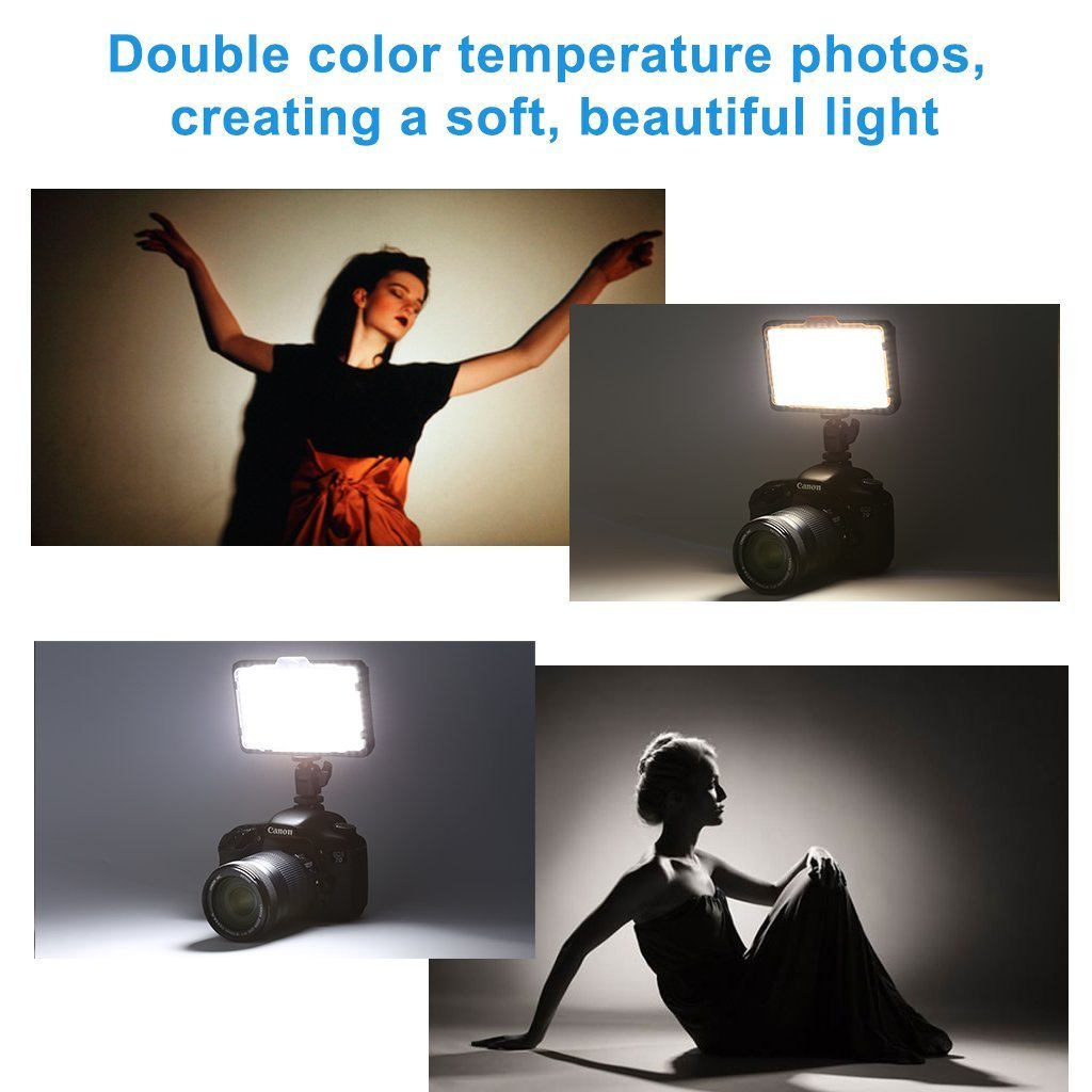 Tolifo Pt-176s 176 Ultra Thin Led Video Light Panel Dimmable Digital Camera Camcorder Video Light with Color Filters for Studio Lighting