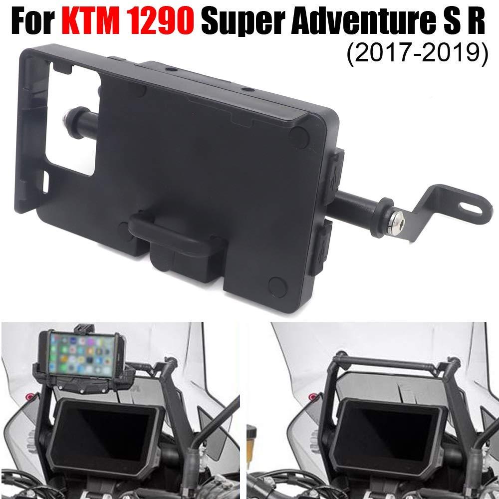 LIWENCUI Color : Set GPS//Smart Phone de navegaci/ón Soporte for KTM 1290 Super Adventure S R 2017 2018