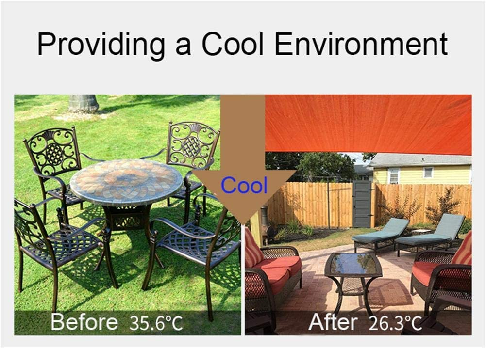Ommda 95/% Sunscreen Anti UV Balcony Privacy Screen Water Resistance HDPE Fabric Garden Fence Panels Wind Breaker Fencing Screening with Rope and Cable Tie Beige 0.75x3m