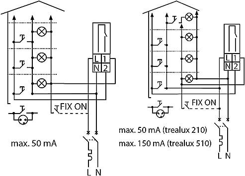 Grasslin TREALUX510 Minutero de escalera, 230 V: Amazon.es: Bricolaje y herramientas