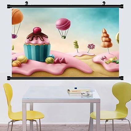 Amazoncom Gzhihine Wall Scroll Girls Room Decor Fantasy Candyland