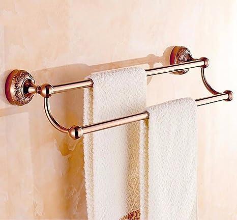 LHbox Tap Toalla de baño de Oro Tallada en la Pared del perforador Dual-Metal