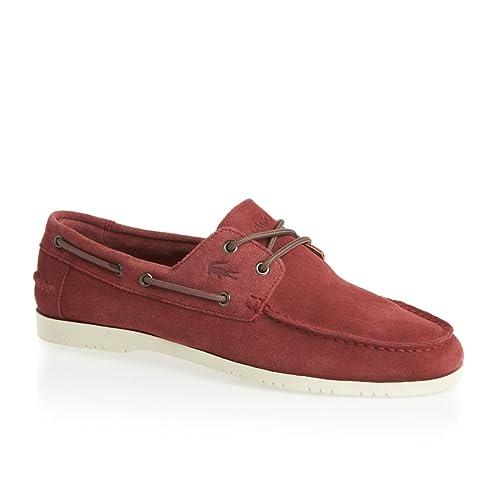 Lacoste Carbon 4 SRM 7-25SRM2223047 - Zapatillas de cuero para hombre, color rojo, talla 46.5: Amazon.es: Zapatos y complementos
