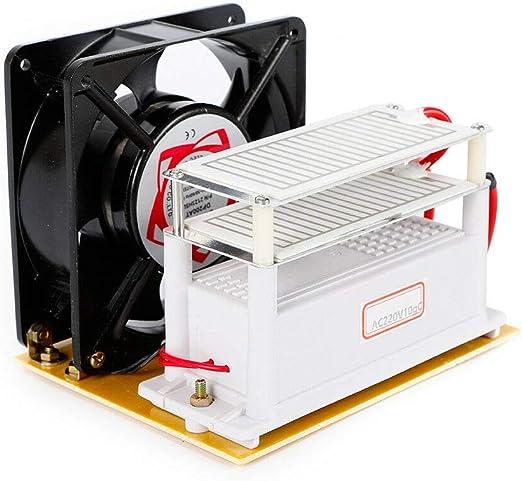 MOMOJA Generador de ozono portátil 10g / h Placa de cerámica Purificador de aire Ozonizador 100W: Amazon.es: Hogar