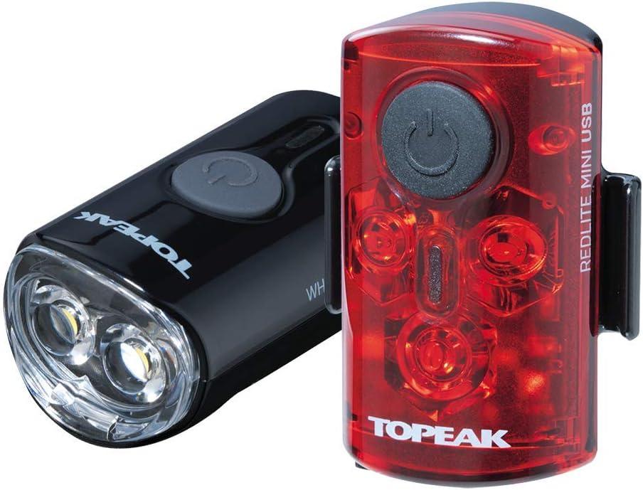 Topeak Bicycle Light Combo Whitelite Mini/Redlite Mini USB Black