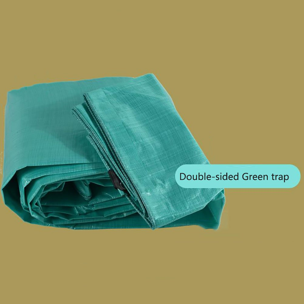 TDLX Wasserdichtes regendichtes Hochleistungsplane-Fallen-Boden-Blatt-Abdeckungs-Schuppen-Tuch verdicken PET-Sonnenschutz-Zelt-Splice-Markise-Sonnenschutz-Visier-im Freien Isolierung-Grün, 150G   M²