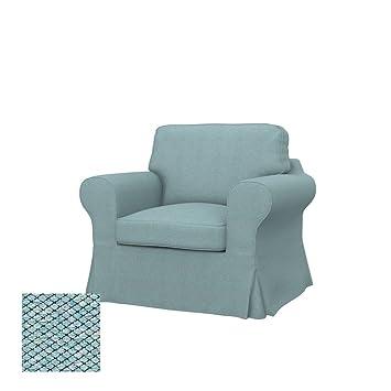 Soferia - IKEA EKTORP Funda para sillón, Nordic Sea Green ...