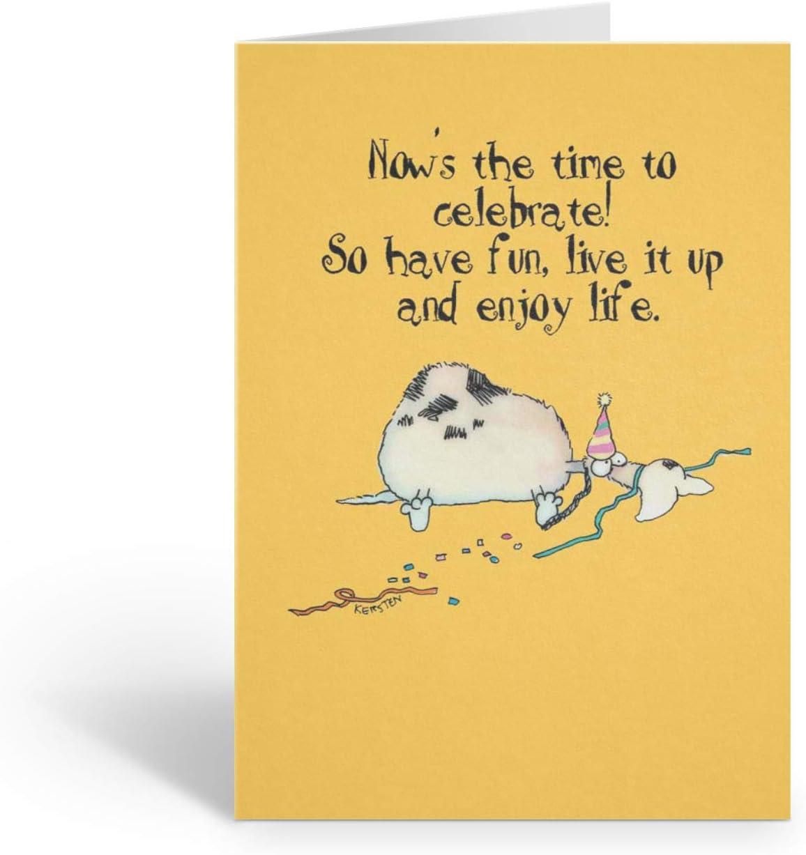 Amazon.com: Live It up - Funny Birthday Card - Single Birthday