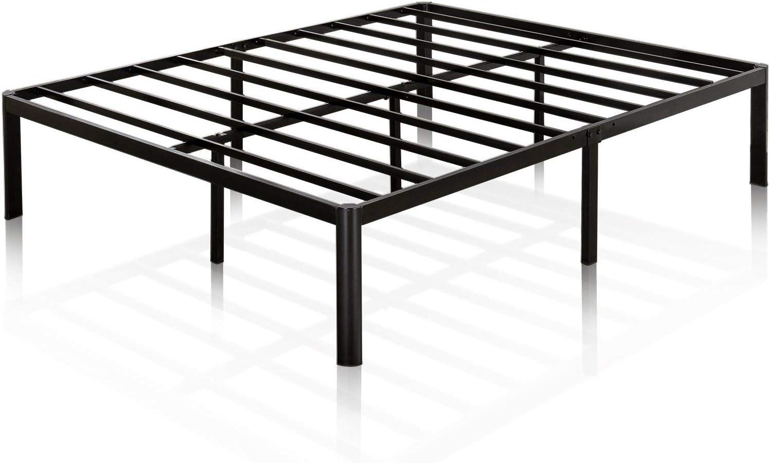 Zinus 16 Inch Metal Platform Bed with Steel Slat Support Mattress Foundation, King Renewed