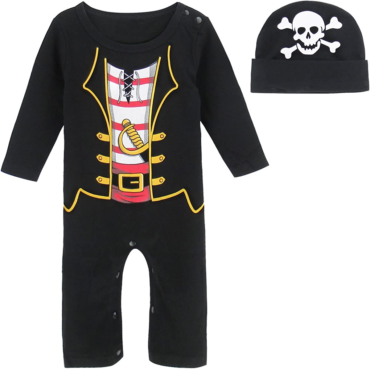 MOMBEBE COSLAND Monos Bebé Niños Disfraz con Gorro Manga Larga 100% Algodón