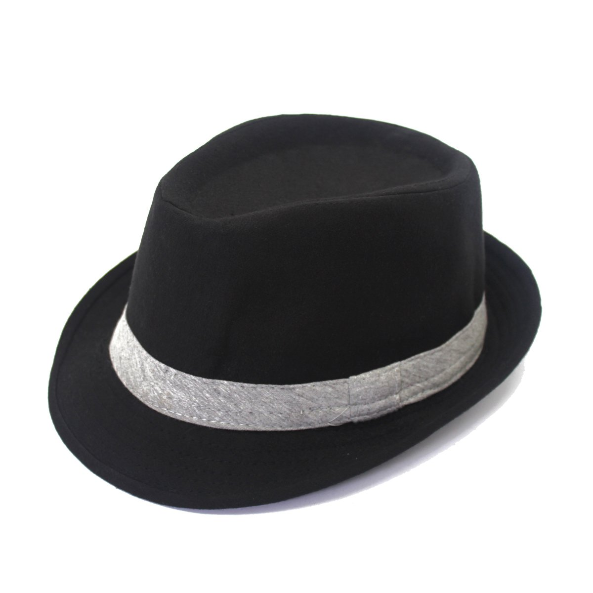 outfly Unisex Fedora Trilby Hat Top Hat 100% Cotton, M 22.1-22.8in B11094-B