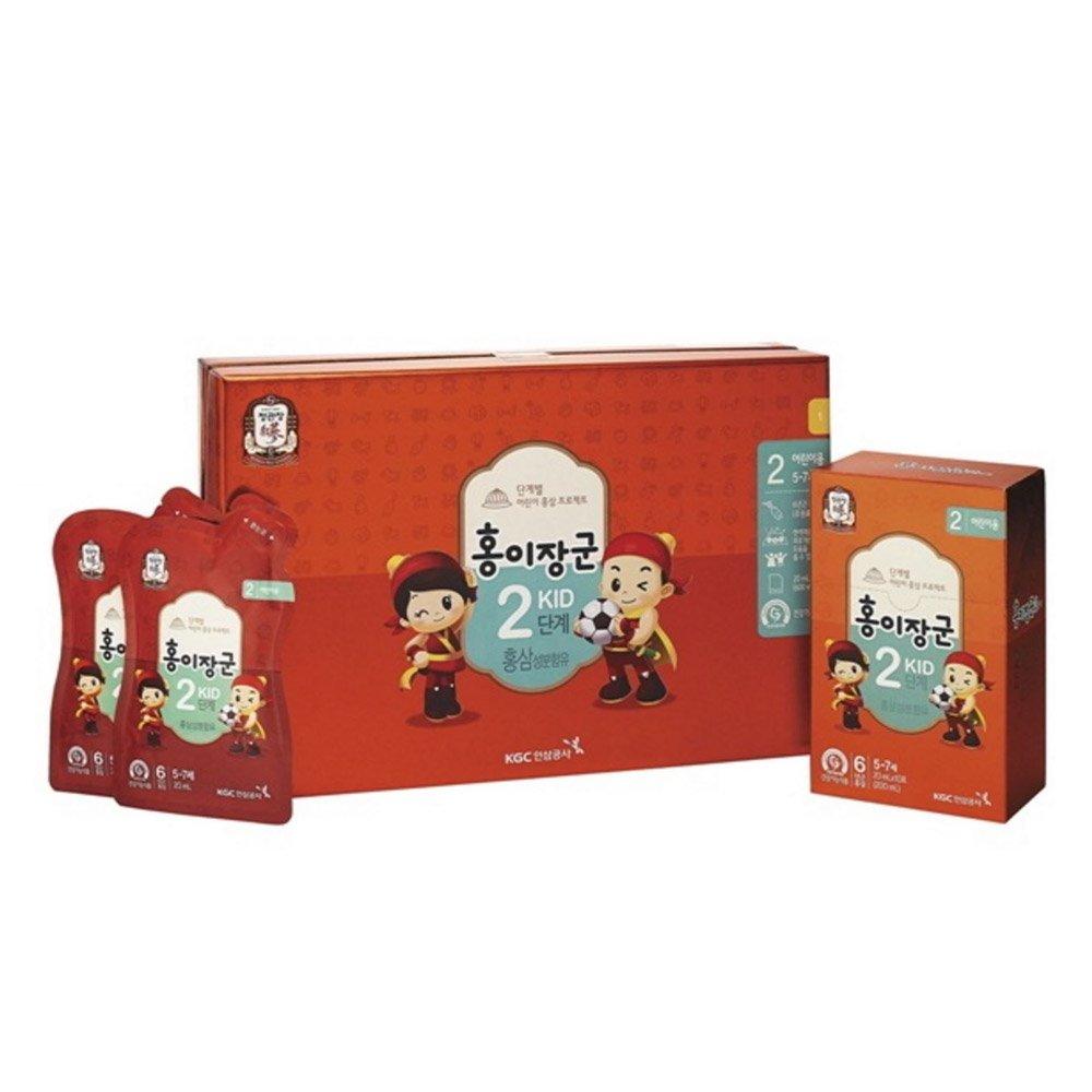 Cheong Kwanjang By Korea Ginseng Corporation Korean Red Ginseng ''HONGEJANGGUN'' Tonic for kids LEVEL 2 (5~7 years old) All New Version