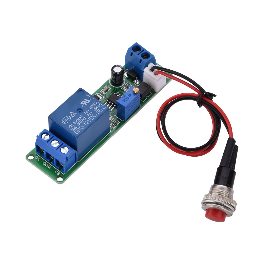 WALFRONT DC 12V Timing Timer Delay Turn OFF Switch Time Relay Loop Module 1~10s Adjustable