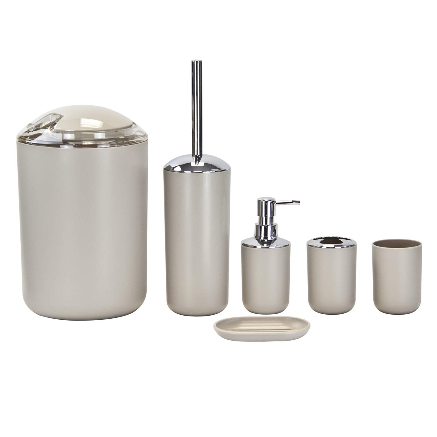 6pc Bathroom Accessories Set - Lotion Dispenser, Soap Dish, Holder ...