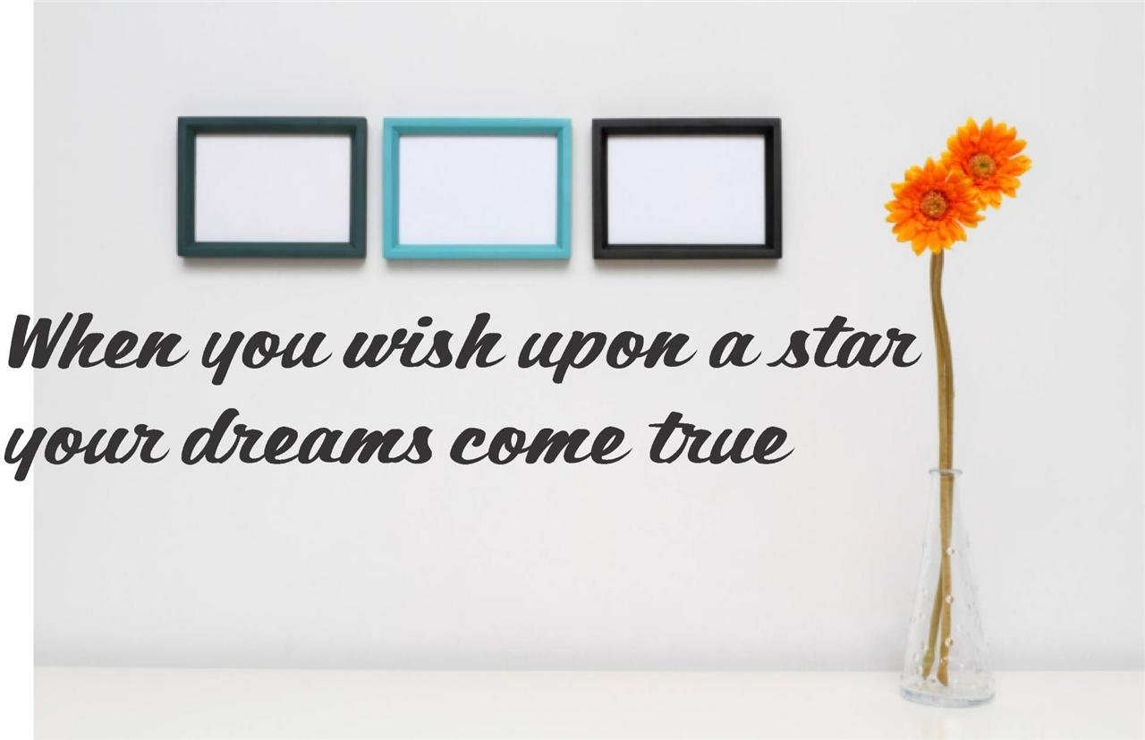 Decal Vinyl Wall Sticker When You Wish Upon A Star Your