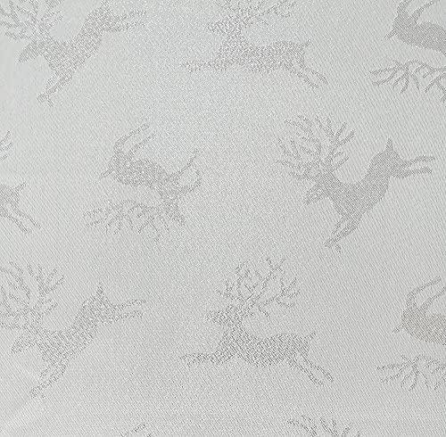 Mantel Lovein de jacquard navideño, con diseño de ciervos color ...