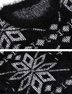 Zeagoo Women's Crew Neck Snowflake Jacquard Ugly Chritmas Sweater Pullover