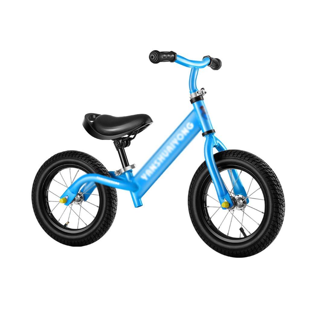 バランス車子供のスクーターペダルなしベビースクーターバギー子供のスクーターベビースクーター子供のダブルホイール自転車2つのラウンドウォーカー2-6歳  Blue B07F37NLKC