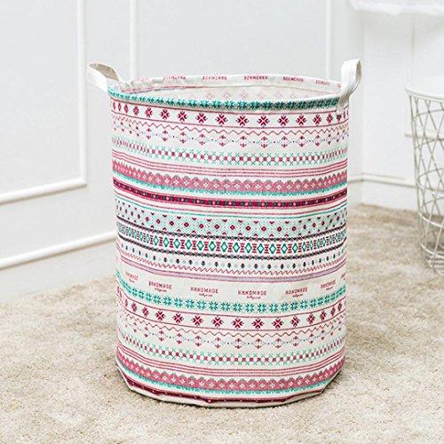 molyveva lona impermeable hojas lavandería cesta para la colada cesta de almacenamiento Caja plegable de almacenamiento...
