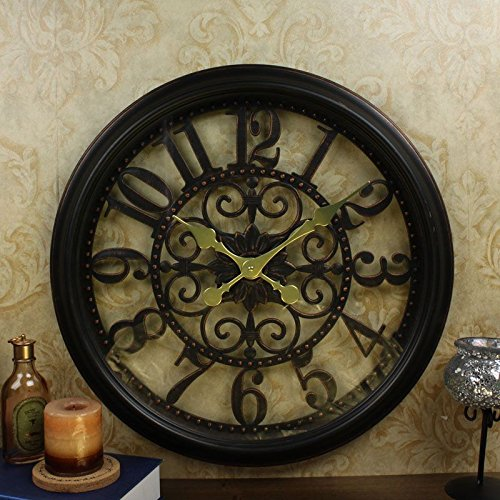 Y-Hui Oversized Wall Clock Exposed Living Room Silent Mount Table Classic Art Plastic Quartz Watches, 20 Inch,20Wk.E8
