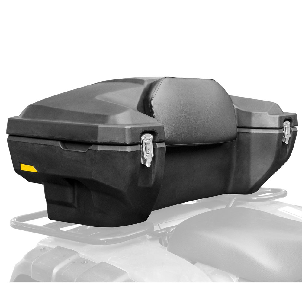 Rage Powersports ATV-CB-8030 Lockable Hard-Side Rear ATV Storage Box with Padded Backrest
