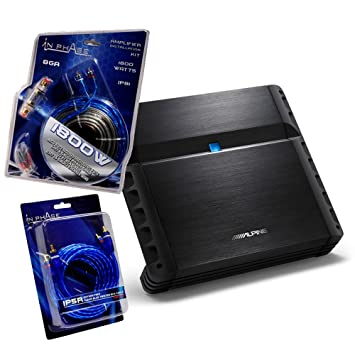 Alpine PMX-F640 - Amplificador (640 W, 4 canales, 8 calibres, incluye cableado): Amazon.es: Electrónica