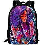 YesFutureIs Female Travel Backpack African American Black Woman Abstract Graffiti Print Bookbag For Adult Casual Style College Bookbag