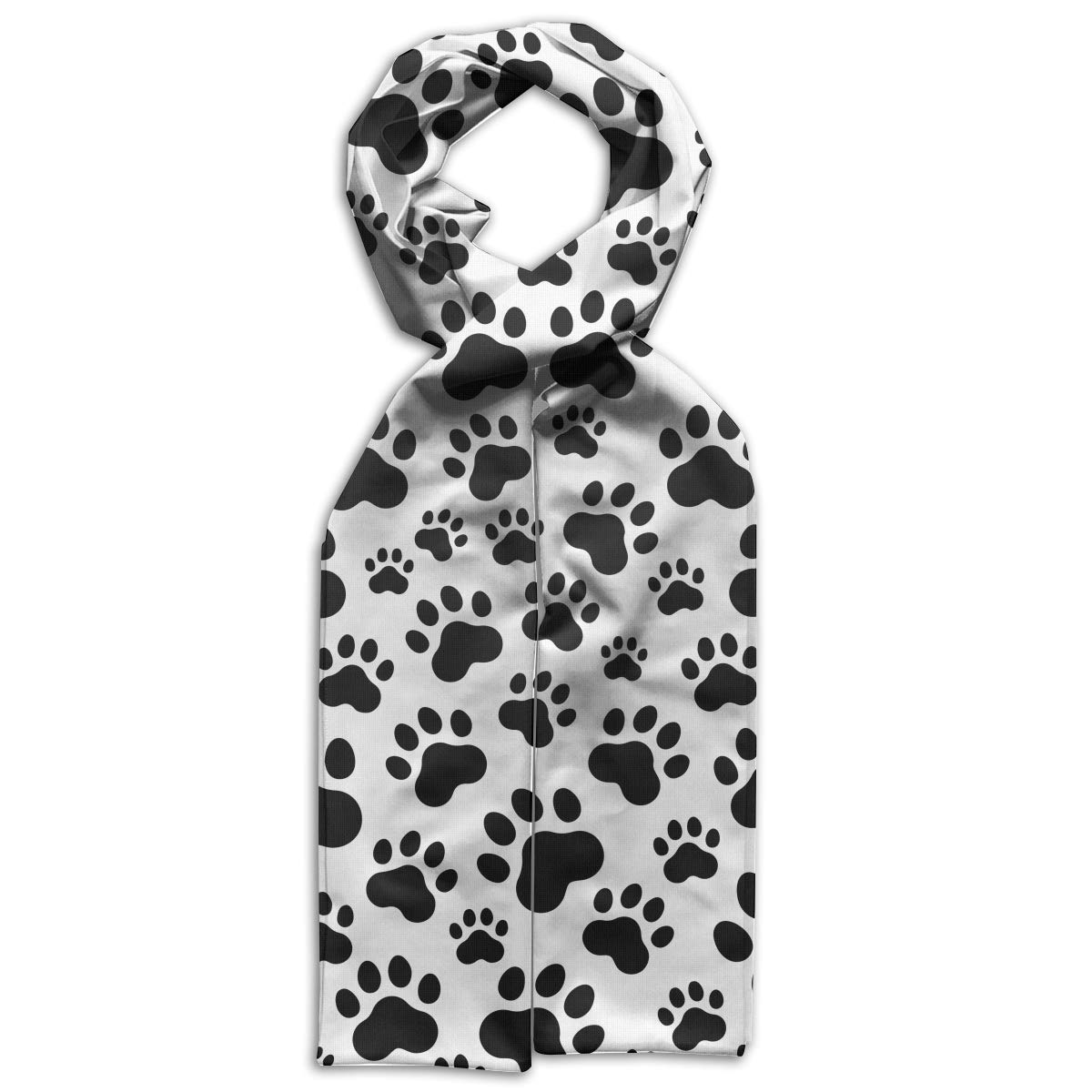 GQOP Kids Scarf Dog Paw Print Lightweight Long Scarf Shawl Warps