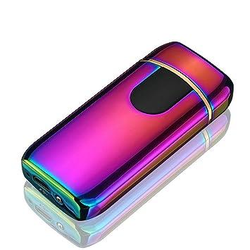GuDoQi USB Mechero Eléctrico Pantalla táctil de Huellas Dactilares ...
