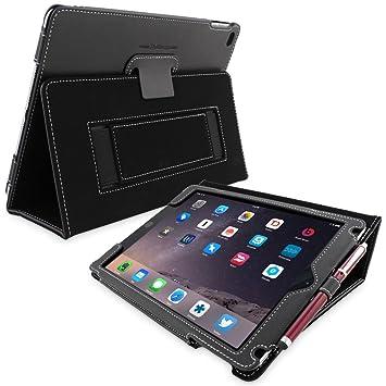 timeless design 50e84 b585b Snugg iPad Air 2 Case - Black Leather Smart Case Cover: Amazon.co.uk ...