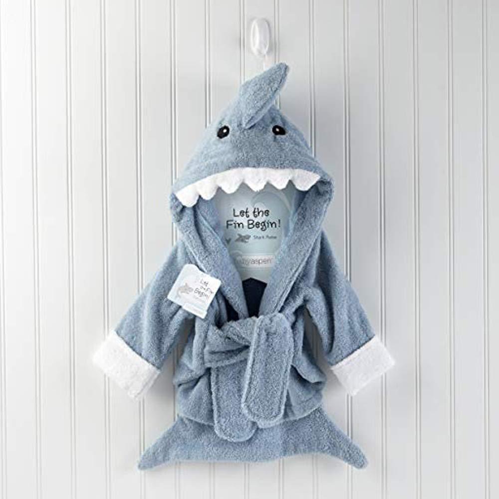 au Bain Piscine//Plage GNSDA Serviette de b/éb/é /à Capuchon Organique Robe /éponge Bleue en Requin Douce pour Tout-Petits et Enfants Serviette /à Capuche pour Filles ou gar/çons