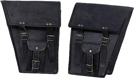 Selle Sac Sacoches 1 côté pochette en cuir marron moto Côté Pochette saddlebags