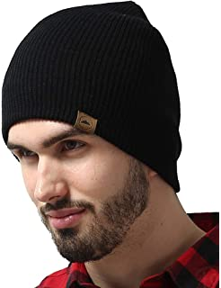 4ef288ac83b50c Tough Headwear Daily Knit Ribbed Beanie - Warm, Stretchy & Soft Beanie Hats  for Men
