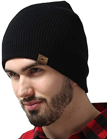 08ab4a520 Tough Headwear Daily Knit Ribbed Beanie - Warm, Stretchy & Soft Beanie Hats  for Men & Women - Year Round Comfort - Serious Beanies for Serious Style