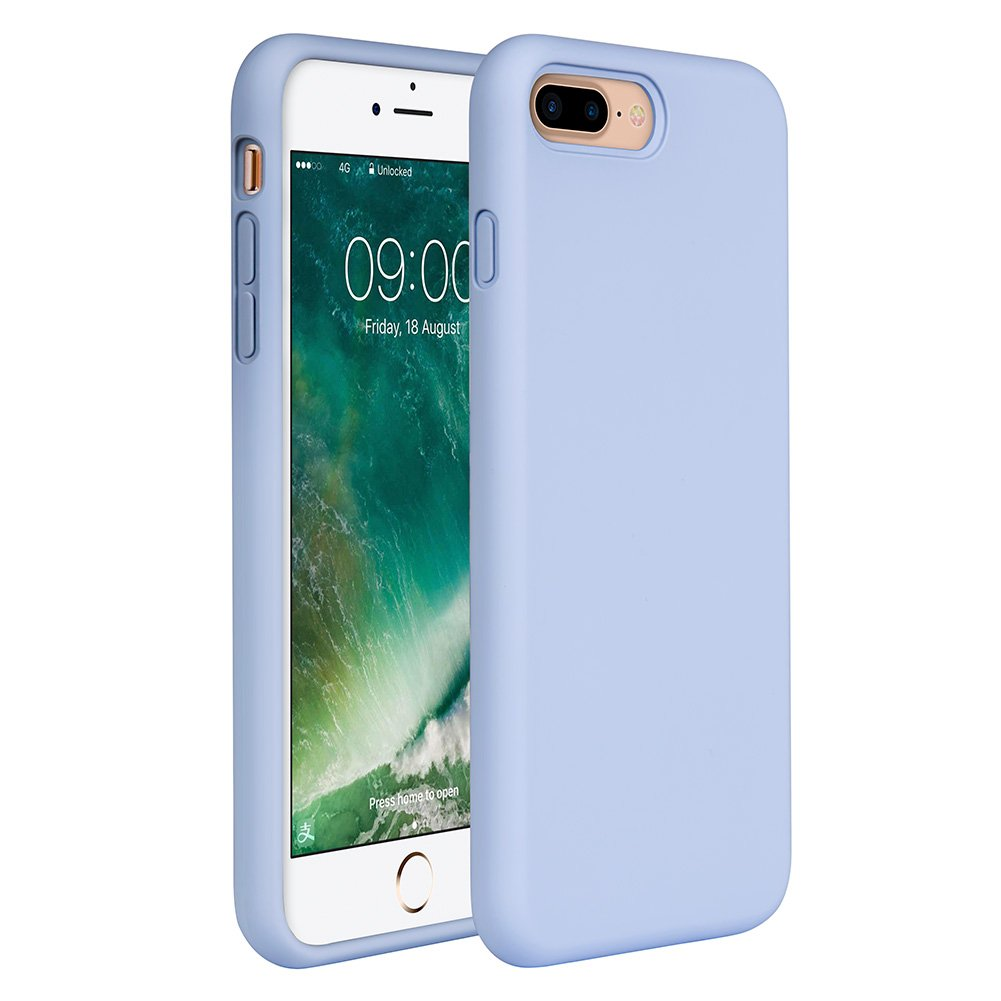 Miracase iPhone 8 Plus Silicone Case, iPhone 7 Plus Silicone Case Gel Rubber Full Body Protection Shockproof Cover Case Drop Protection for Apple iPhone 7 Plus/iPhone 8 Plus(5.5'')-Clove Purple