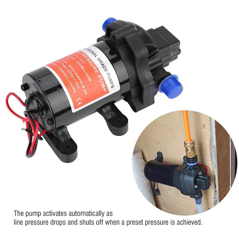 45 PSI Hochdruck-Membranpumpe 3,5 GPM lahomie Automatische Wasserpumpe 12 V